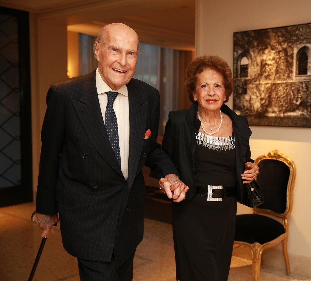 Prof.Umberto Veronesi con la moglie