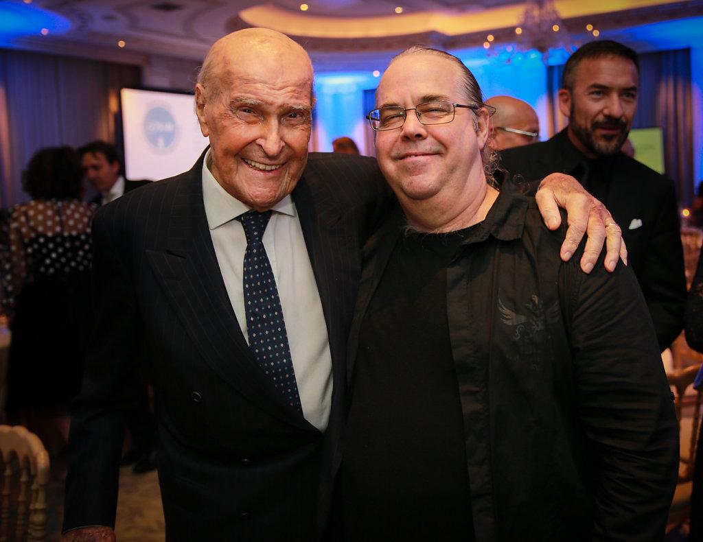 Mark Harris con il Prof. U.Veronesi