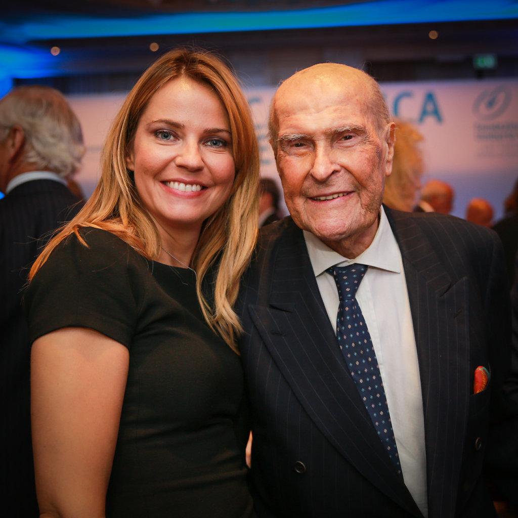 Alessandra Viero con il Prof. U.Veronesi